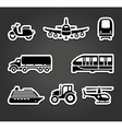 Set of sticky stickers transport symbols vector