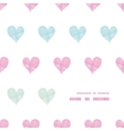 Colorful polka dot textile hearts center frame vector