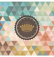 Background made of triangles retro label vector