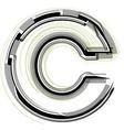 Technological font letter c vector