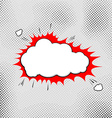 Explosion pop-art bubble template comic style vector