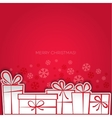 Merry christmas gift greeting card paper design vector