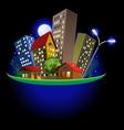 Abstract city at night vector