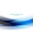 Abstract background blue wave business template vector