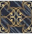 Seamless swirls retro pattern vector