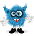 Blue monster vector