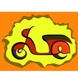 Retro scooter sign vector
