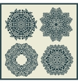 Ornamental round and stars patterns vector