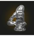 Metal figure 4 vector