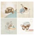 Scrapbook design elements - vintage paper set vector