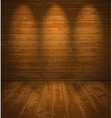 Empty wooden room vector