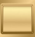Gold metallic plaque background vector