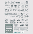 Hand drawn shopping elements set vector
