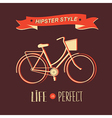 Summer poster with bicycletypography vector