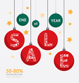 Sale discount icons styled christmas ball vector
