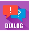 Flat dialog background concept vector