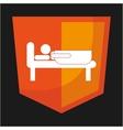 Bed room design vector