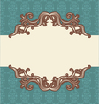 Abstract vintage frame vector
