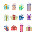 Icons with presents vector