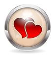 Valentine button vector