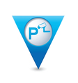 Parking under supervision icon map pointer blue vector