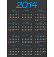 Calendar year template vector