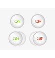 Buttons with on and off text vector