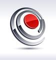 Abstract 3d spiral icon vector