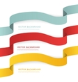 Set of color ribbons isolated on white vector