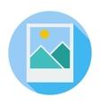Photo single icon vector