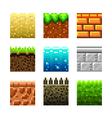 Pixels textures for games vector