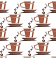 Coffee cups seamless pattern vector