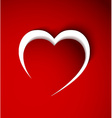 Red heart made from paper vector