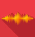 Flat long shadow music wave icon vector