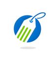 Label abstract hang tag logo vector