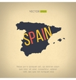 Spain map in vintage design spanish border vector