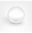 White pearl ball vector