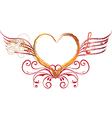 Heart art and rock vector