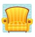 Yellow armchair vector