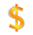 Dollar currency sign vector