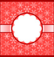 Red frame with snowflakes vector