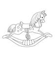 Rocking horse vector