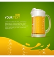 Beer mug background for text vector