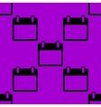 Calendar web icon flat design seamless pattern vector