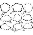Comic cloud speech bubbles vector