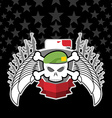 Skull in beret with the eagle war emblem vector