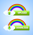 Upload and download buttons vector