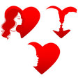 Silhouette hearts vector