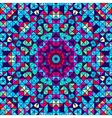 Color abstract geometric retro pattern vector
