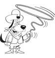 Cartoon lariat dog vector